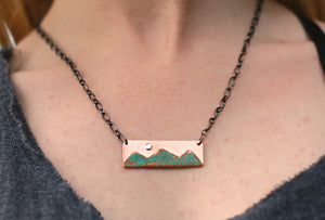 Moon Ridge Copper Necklace
