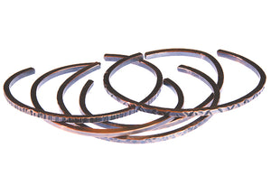 Copper Cuff Unisex Stack Bracelets (Size Choices)