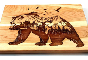 Grizzly Bear Hardwood Cutting Board