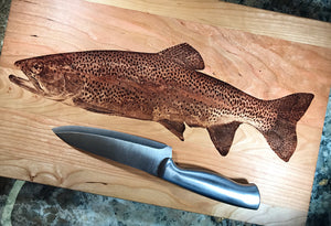 Rainbow Trout Hardwood Cutting Board