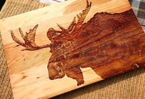 Moose Hardwood Cutting Board