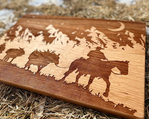 Cowboy Hardwood Cutting Board