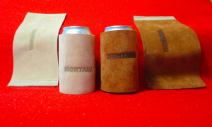 Montana Beer Koozie Leather Can Wraps