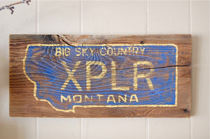 Explore Big Sky Rustic Montana Sign