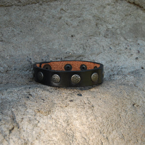 Thin Leather Decorative Studded Cuff - Distinctly Montana - 2