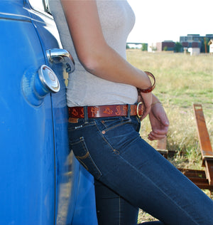 Bordeaux Leather Belt