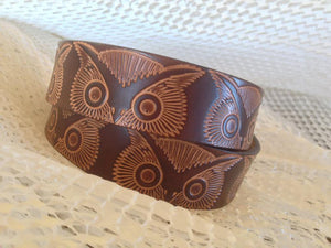 Vintage Stamp Leather Belt, Brown