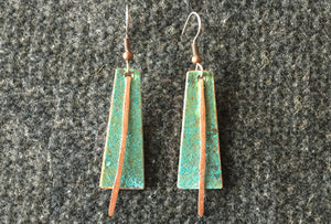 Eclipse Copper Earrings