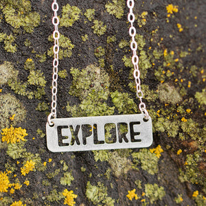 Montana Explore Necklace - silver or gold