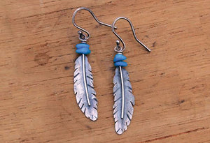 Sterling Feather Montana earrings
