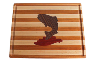 Hardwood Cutting Board - The Trout - Distinctly Montana - 4