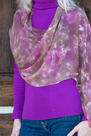 Silk Shoulder Caplets, Purple