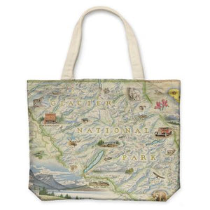 Glacier Canvas Tote Bag