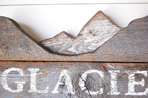 Glacier National Park 3D Mountain Salvage Sign