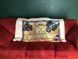 Glacier Vintage Map Silk Touch Throw Blanket