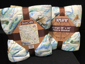 Glacier Soft Fleece Map