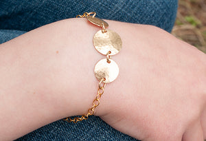 Gold Triple Disc Bracelet