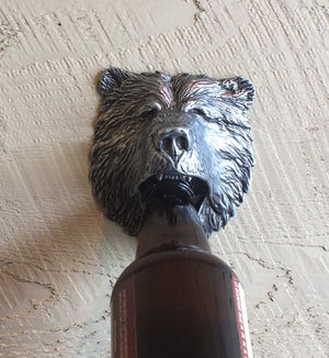 Grizzly Bear Bottle Opener Wall Mount