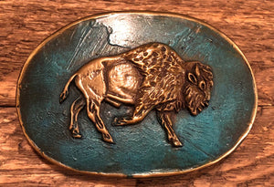 Bison Buckle, Blue Finish