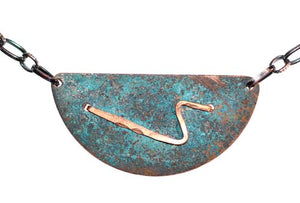Half Moon Copper Necklace