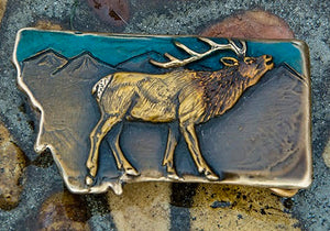Elk Montana Belt Buckle [choose color]