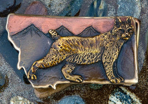 Bobcat Belt Buckle (color choices)
