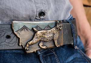 Bobcat Belt Buckle [choose color]