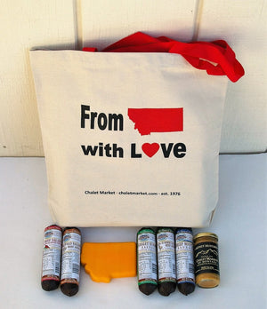 """Montana Love"" Sausage & Cheese Gift Tote"