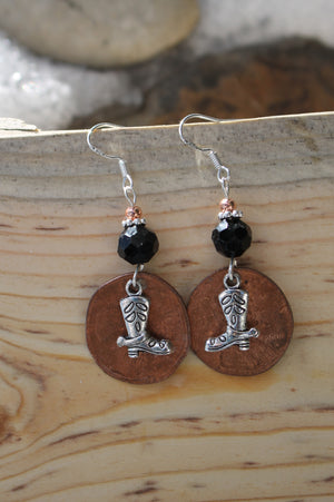 Cowgirl Boot Earrings - Montana earrings