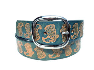 Cowboy Boots Leather Belt