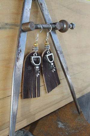 Leather Spur Earrings