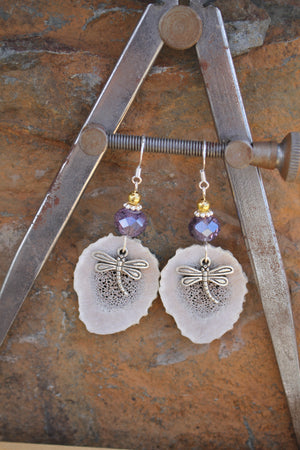 Antler Dragonfly Earrings