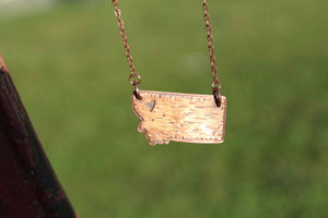 Montana State Copper Necklace