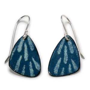 Pine Spruce Enameled Copper Earrings (Color choices)