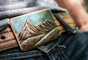 Blue Mountains Belt Buckle