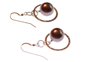 Pearl Hoop Earrings- Montana jewelry