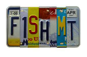 FISH MT License Plate Sign