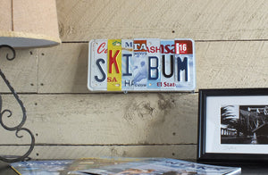 Ski Bum License Plate Art