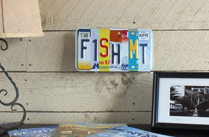 FISH MT License Plate Wall Art