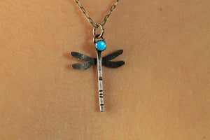 Sterling & Turquoise Dragonfly Necklace