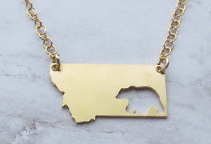 Bear Montana Necklace (Gold or Silver)