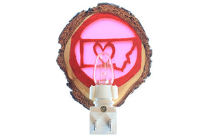 Love Montana Night Light, Carved Wood