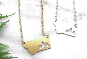Pine Tree Montana Necklace