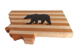 Hardwood Cutting Board - The Grizzly Bear - Distinctly Montana - 6