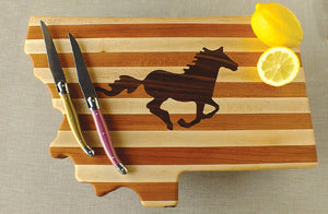 Wild Stallion Hardwood Cutting Board
