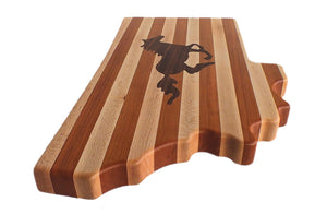 Montana Shaped Wood Cutting Board, Wild Horse