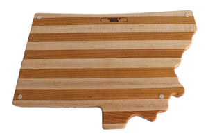 Hardwood Cutting Board, Montana Shaped