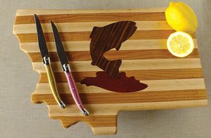 Hardwood Cutting Board - The Trout - Distinctly Montana - 1
