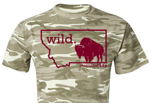 Camo Bison T-Shirt, Unisex  SOLD OUT