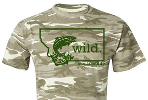 Camo Trout T-Shirt, Unisex SOLD OUT